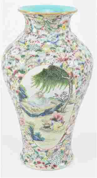 Porcelain vase. China. Early 20th century. Baluster