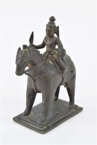 Bronze deity. India. 18th century or earlier.
