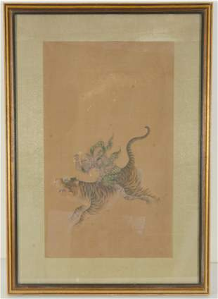 Painting. China. 19th century. Ink and colors on silk.