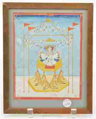 Miniature painting. India. 18th/19th century. Ink
