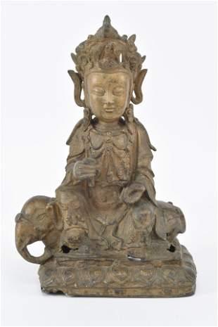Bronze buddha. China. Ming period. Figure of