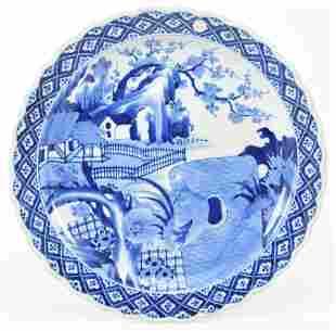 Large 19th century Japanese Arita ware blue and white