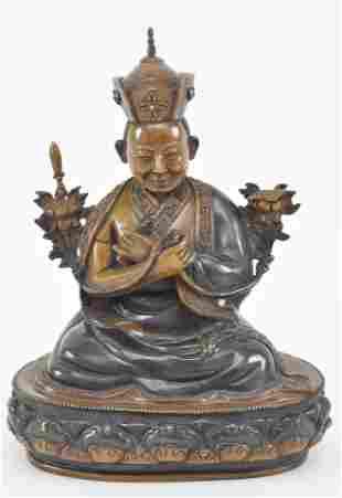 Buddhist image. Nepal. 20th century. Seated figure of a