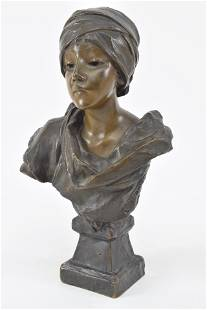 E. Villanis. Early 20th Century. Bust of young man.