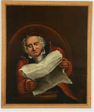 Gentleman reading the Naval & Military Gazette.19th