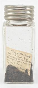 Tea leaves from the Boston Tea Party, 1773. From the