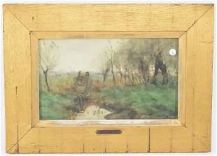 George Poggenbeek (1853 - 1903) signed watercolor