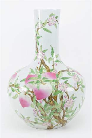 Large Chinese floor vase with Peach motif. 20th