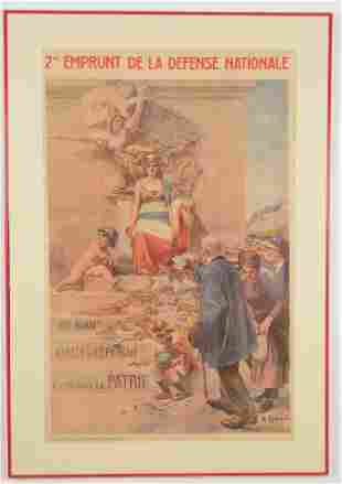 A. Robaudi (1850-1928). 2me Emprunt de la Défense