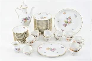 "Royal Copenhagen ""Saxon"" floral pattern porcelain china"