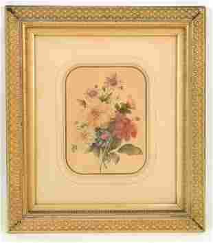 American late 19th Century. Still life of a bough of