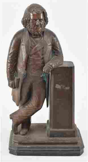 William Brodie. 1870. The Scholar. Bronze statue of