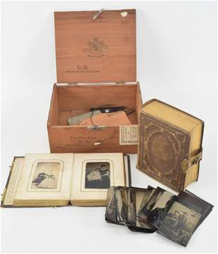 19th century photographs including two albums with cdvs