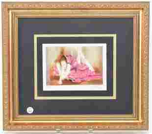 L. Frank signed lithograph of Ballerina. Limited