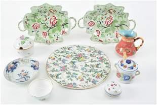 Platters and serve wear including Herend, Royal Tudor