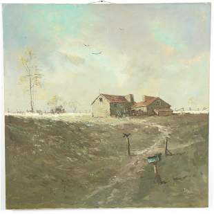 Jorge Andres Braun. 20th Century. Country cottage