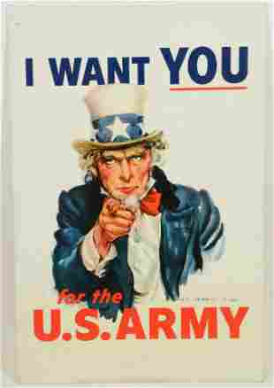 Reproduction WWI recruitment poster printed on sheet