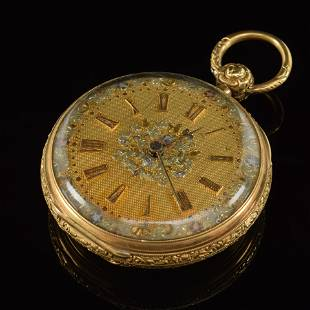 18K Gentleman's 19th century Hunting case pocket watch,