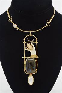 Carolyn Morris Bach, 18K, 22K gold and Sterling