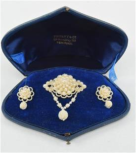 Tiffany & Co. Antique Seed pearl Demi-Parure, including