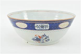 18th/19th century Chinese export porcelain punch bowl