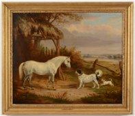 "William Webb. British. Sporting painting ""Grey Pony"
