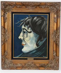 "Jean Pierre Trevor. British. 1971. ""A Face"". Surrealist"