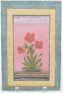 Miniature painting. India. 19th century. Ink and color