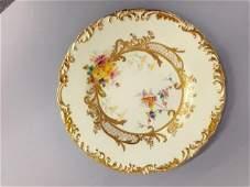 Twelve Royal Crown Derby porcelain luncheon plates