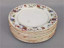 Ten Royal Worcester porcelain service plates Ca 1930