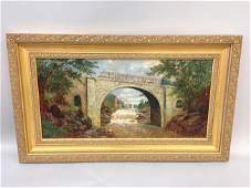 19th C American School Impressionist Landscape Oil
