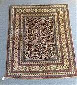 Antique Caucasian Scatter rug with star border Dated