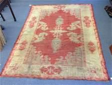 Antique Roomsize Turkish Oushak carpet