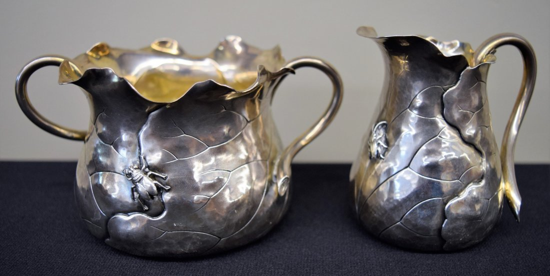 Shiebler sterling silver Aesthetic design creamer and