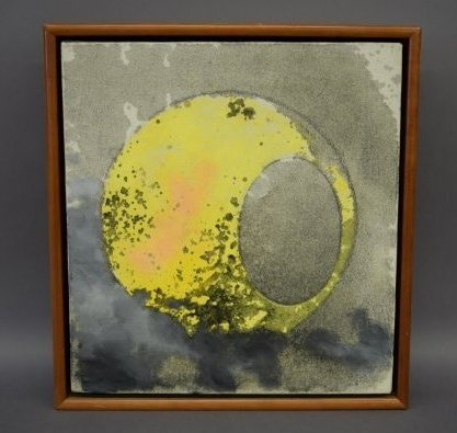 Gyorgy Kepes, 1987. Untitled Abstract painting. Oil on