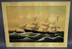 "N. Currier original ""Clipper Ship Dreadnought"" Large"