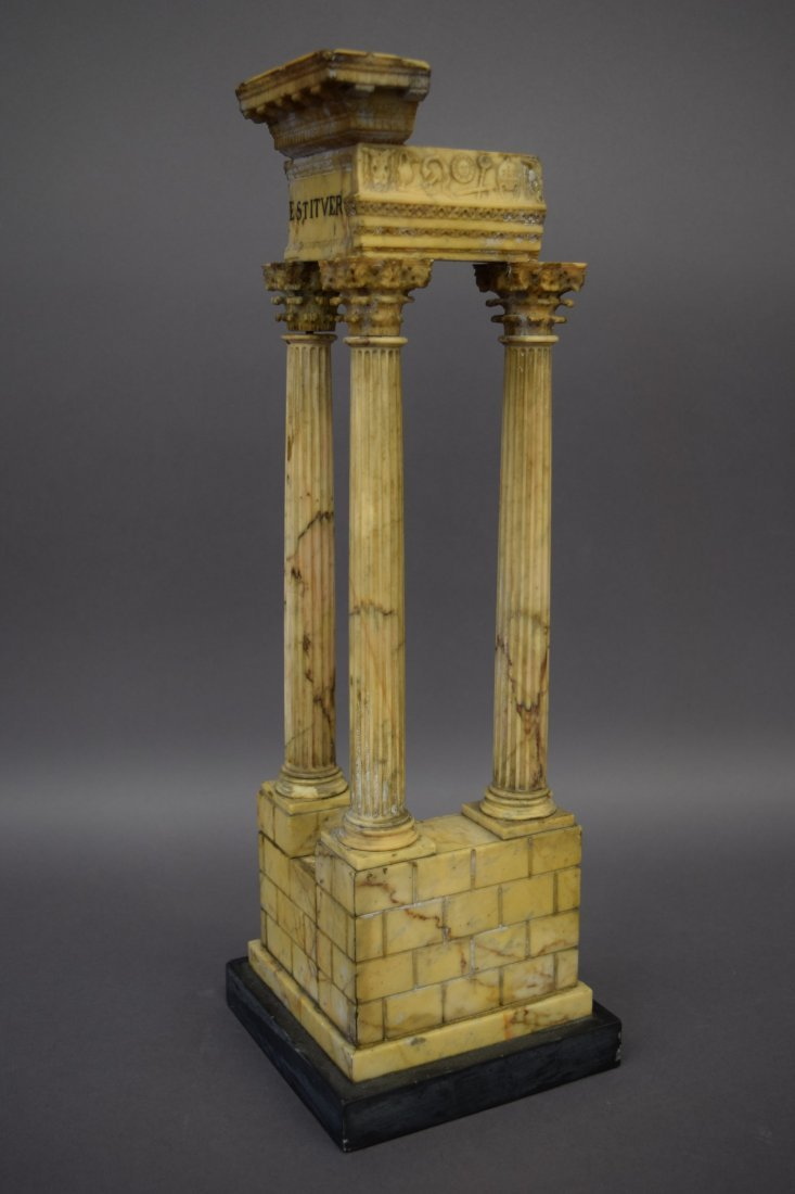 19th century Italian Grand Tour Alabaster Column