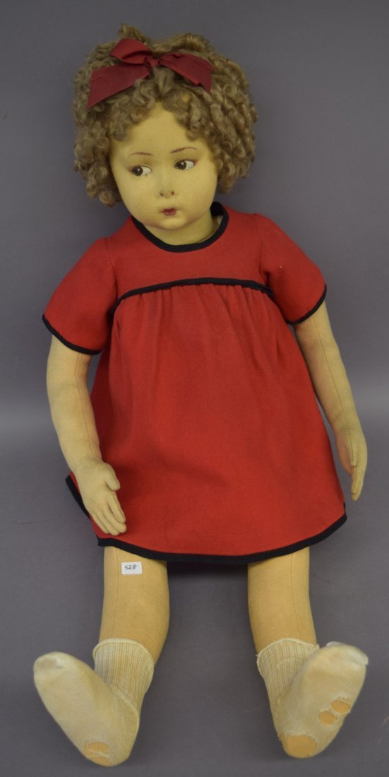 Fine large Lenci felt girl doll - Shirley Temple.