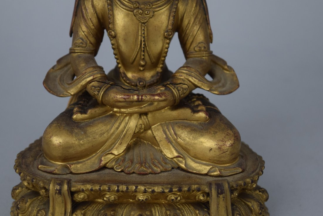 Carved wooden Buddha. China. Ch'ien Lung period - 6