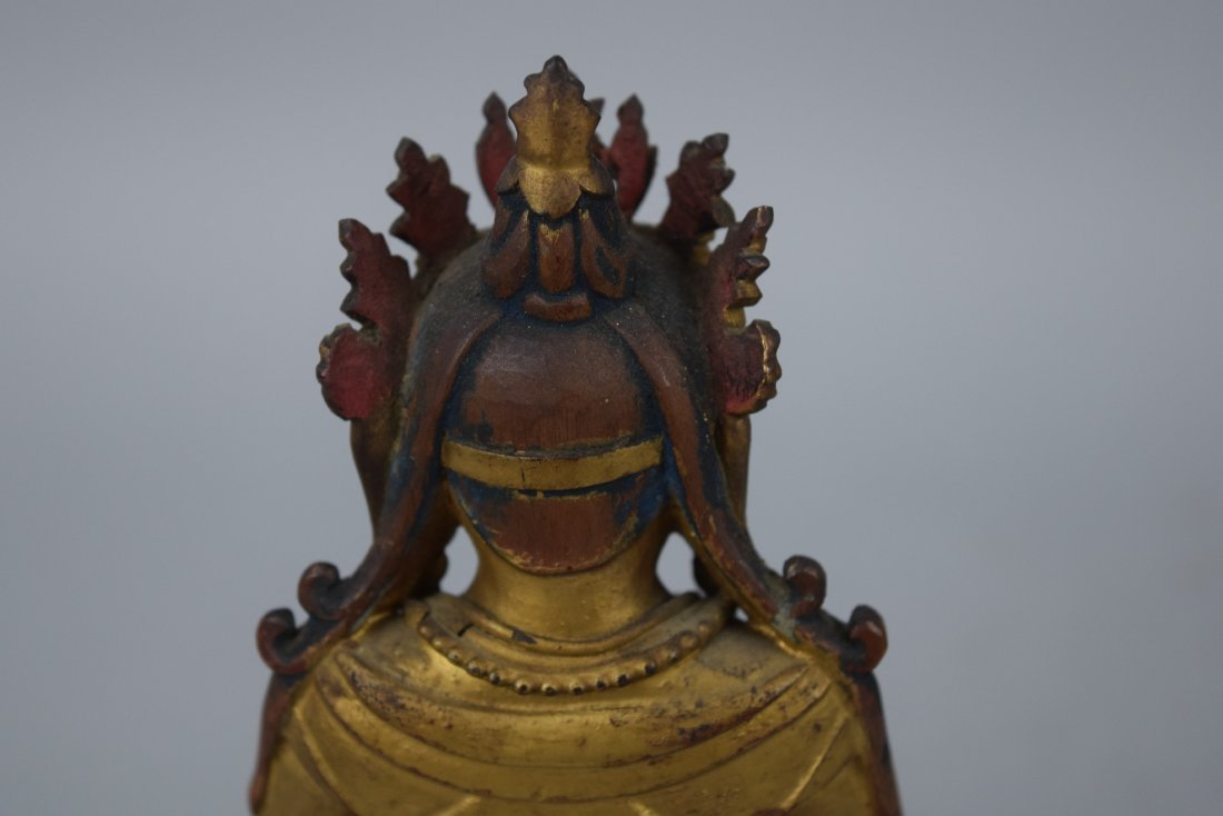 Carved wooden Buddha. China. Ch'ien Lung period - 8