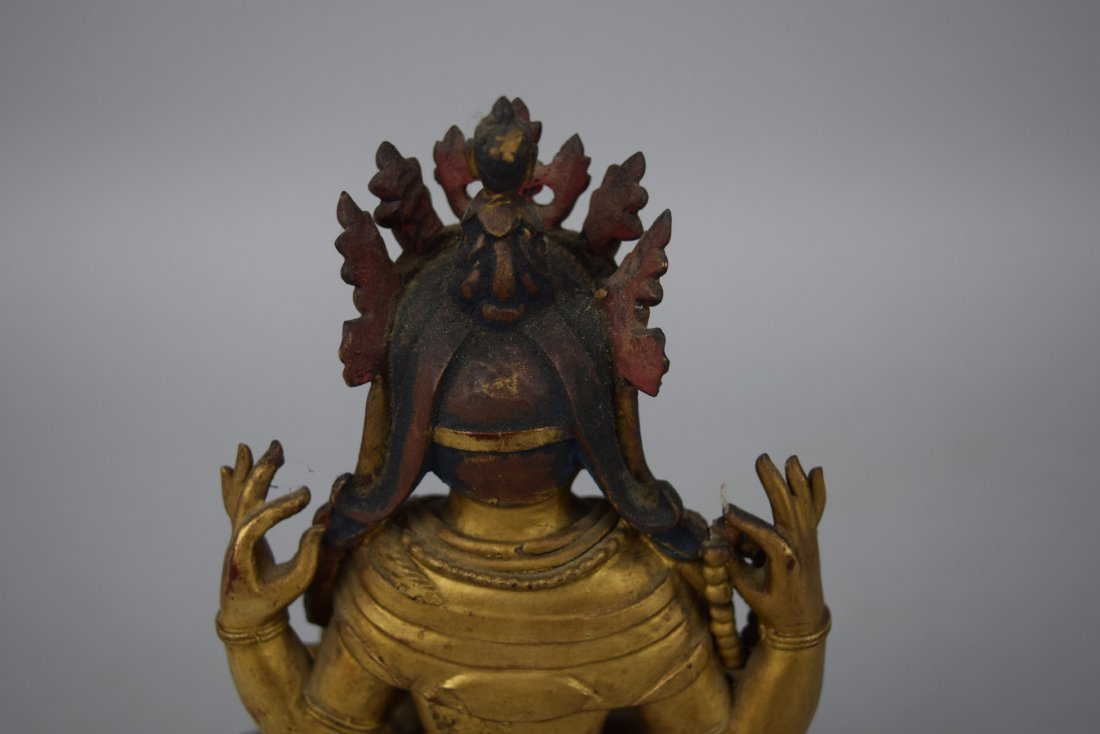 Carved wooden Buddha. China. Ch'ien Lung period - 7
