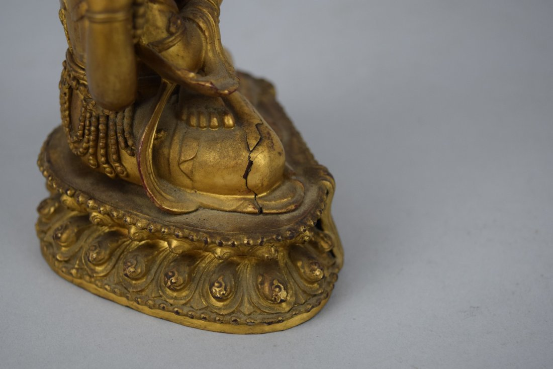 Carved wooden Buddha. China. Ch'ien Lung period - 9