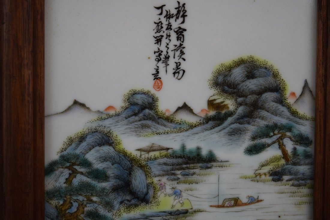 4 porcelain plaques. China. Republican period, circa - 10