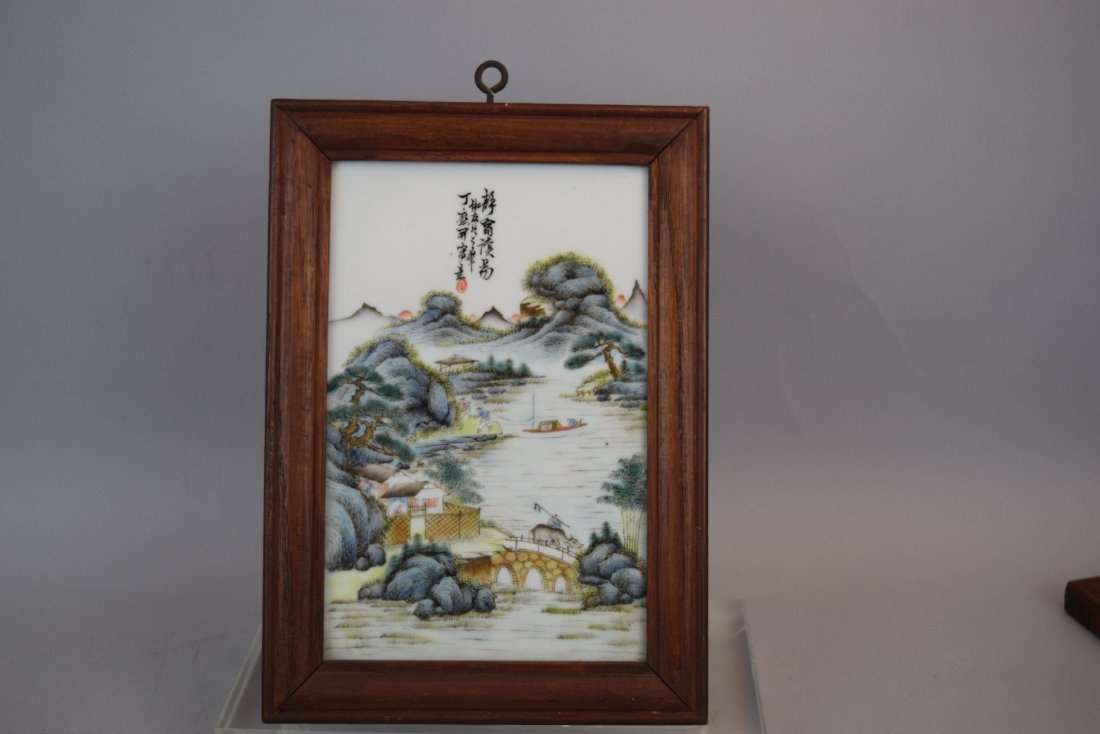 4 porcelain plaques. China. Republican period, circa - 8