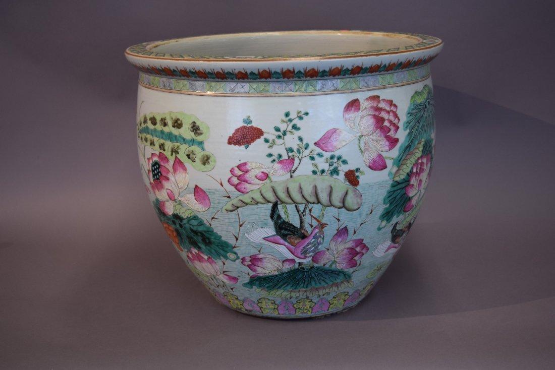 Porcelain fish bowl. China. 19th century. Famille Rose - 2