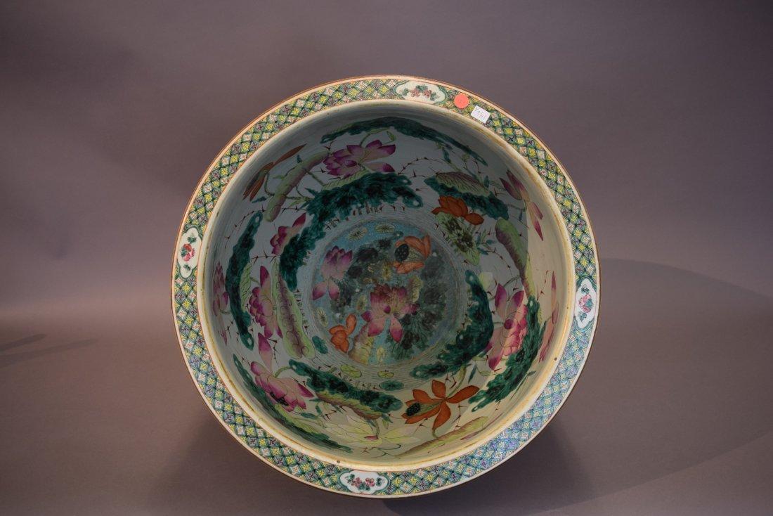 Porcelain fish bowl. China. 19th century. Famille Rose - 9