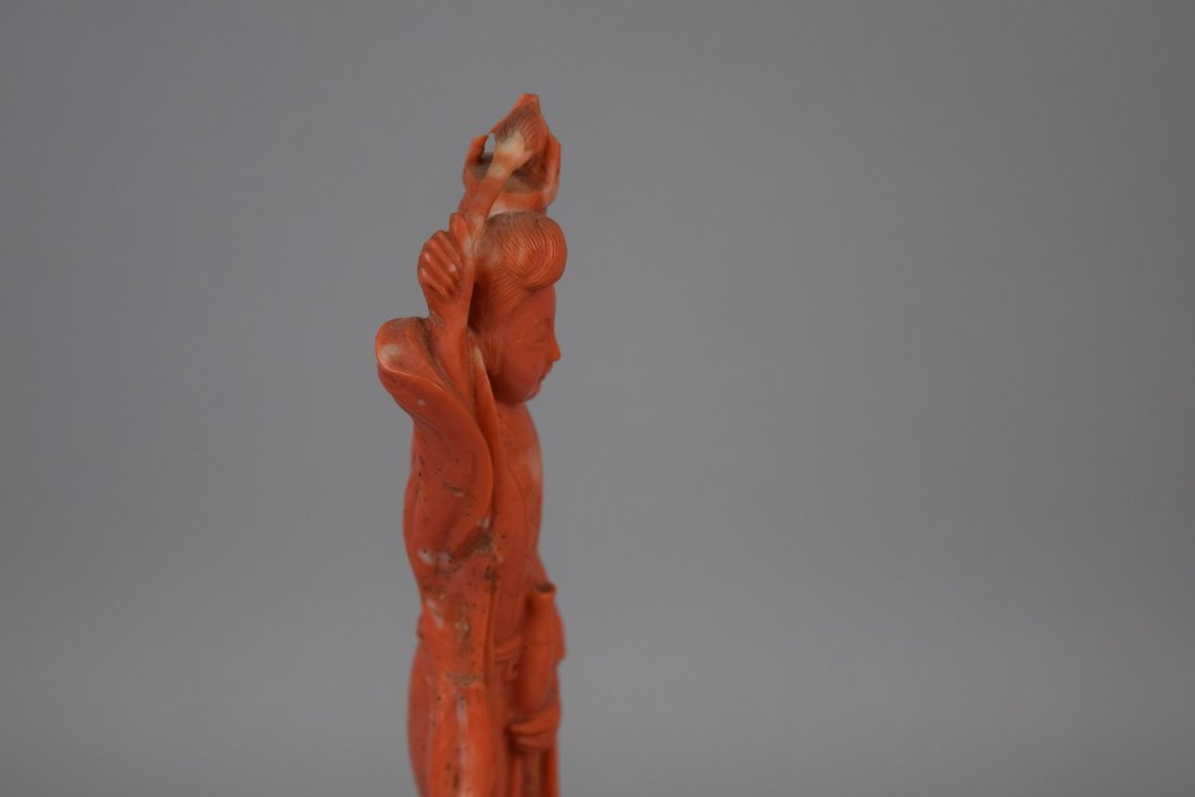 Coral carving. China. 19th century. Figure of the - 10