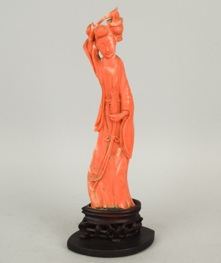 Coral carving. China. 19th century. Figure of the