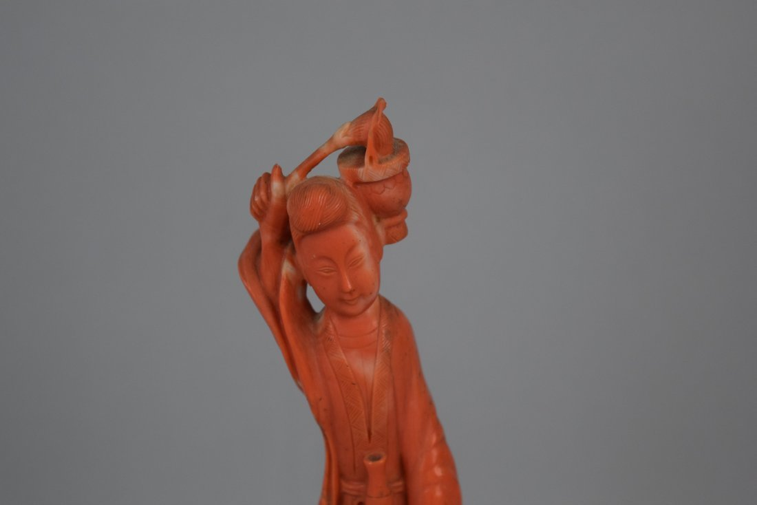 Coral carving. China. 19th century. Figure of the - 2