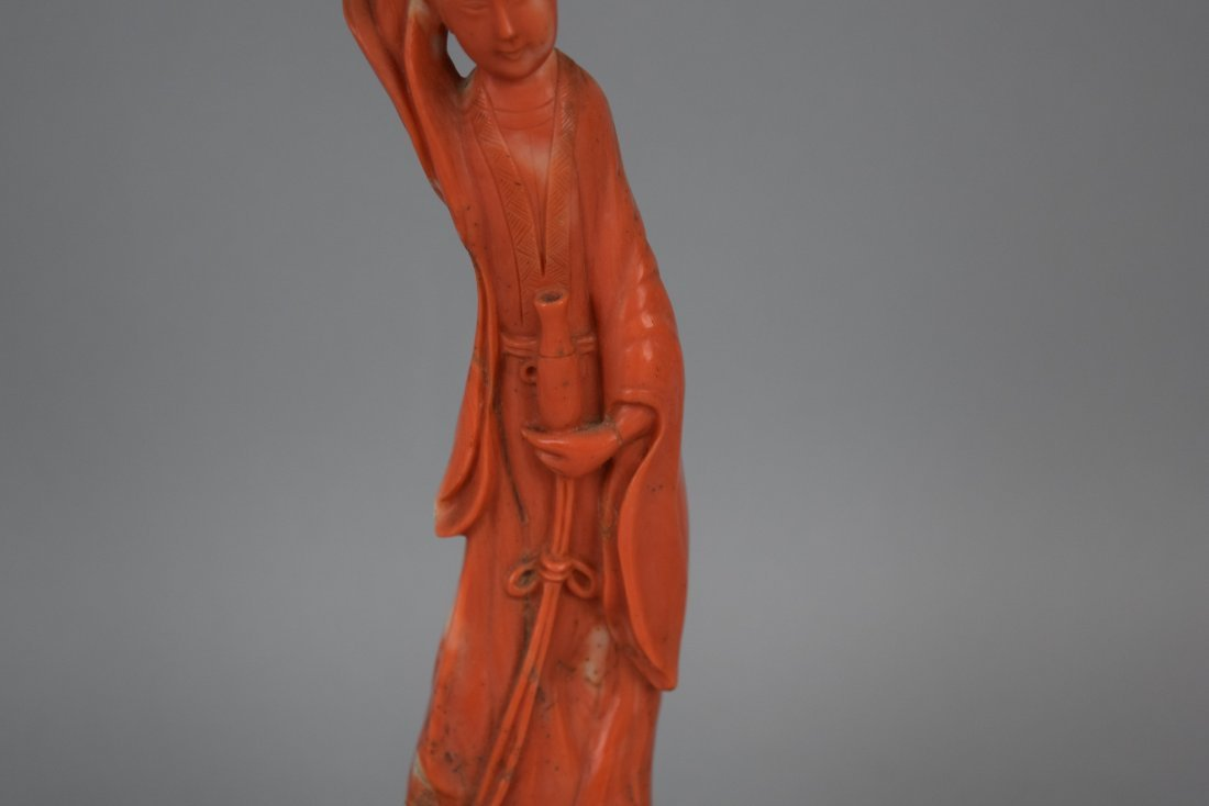 Coral carving. China. 19th century. Figure of the - 3